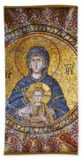 Blessed Virgin Mary And The Child Jesus Bath Towel