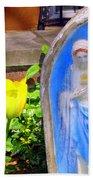 Mary In Springtime Bath Towel