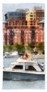 Maryland - Cabin Cruiser By Baltimore Skyline Bath Towel