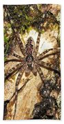 Brown Fishing Spider Bath Towel