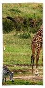 Masai Mara Wildlife Scene Hand Towel