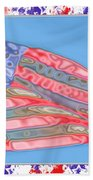 Matalic Flag Bath Towel