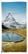 Matterhorn Cervin Reflection Bath Towel