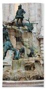 Matthias Fountain In Budapest Bath Towel