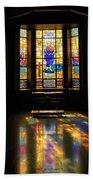 Mausoleum Stained Glass 06 Bath Towel