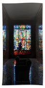Mausoleum Stained Glass 07 Bath Towel