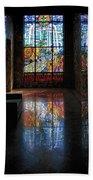 Mausoleum Stained Glass 08 Bath Towel