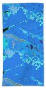 Mayfly Abstract Blue Bath Towel