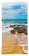 Meandering Waves On Tropical Beach Bath Towel