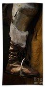 Medieval Faire Boot Detail 2 Bath Towel