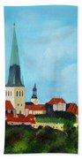 Medieval Tallinn Bath Towel