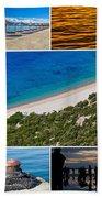 Mediterranean Coast Collage Bath Towel