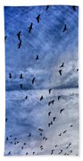 Meet Me Halfway Across The Sky 1 Hand Towel by Angelina Vick