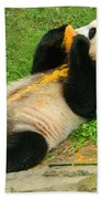 Mei Xiang Chowing On Frozen Treat Bath Towel