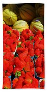 Melons And Strawberries Bath Towel