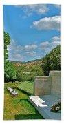 Memorial In Anzak Cemetery Along The Dardenelles In Gallipolii-turkey Bath Towel