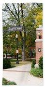 Memorial Park Autumn Bath Towel