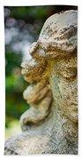 Memphis Elmwood Cemetery - Girl With Cross Close-up Bath Towel