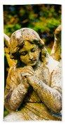 Memphis Elmwood Cemetery - Praying Angel Bath Towel