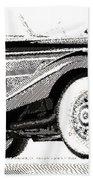 Mercedes 540k  - Parallel Hatching Bath Towel