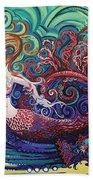 Mermaid Gargoyle Hand Towel