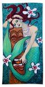 Mermaid's Tiki God Bath Towel
