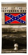 Mescalero Apace Truck Honoring Jefferson Davis Tucson Arizona Vignetted Color Added 2008 Bath Towel