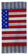 Metal American Flag Hand Towel