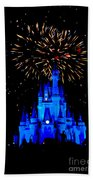Metallic Castle Bath Towel