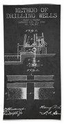 Method Of Drilling Wells Patent From 1906 - Dark Hand Towel
