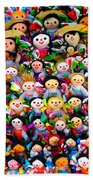 Mexican Dolls Bath Towel