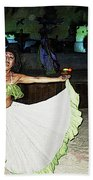 Mexican Traditional Dancer Bath Towel