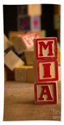 Mia - Alphabet Blocks Bath Towel
