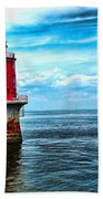 Miah Maull Shoal Lighthouse Bath Towel