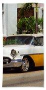 Miami Beach Classic Car Bath Towel