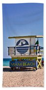 Miami Beach Lifeguard Station Bath Towel