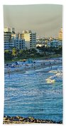 Miami Beach Sunset Bath Towel