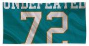 Miami Dolphins Undefeated Season Bath Towel