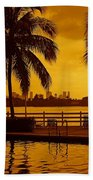 Miami South Beach Romance Bath Towel