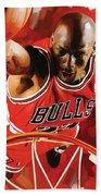 Michael Jordan Artwork 3 Bath Towel