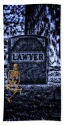 Midnight In The Graveyard With A Lawyer Bath Towel