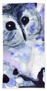 Midnight Owl Bath Towel