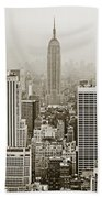 Midtown Manhattan With Empire State Building Bath Towel