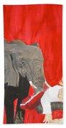 Mika And Elephant Bath Towel