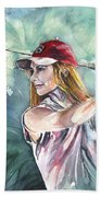 Miki Self Portrait Golfing Bath Towel