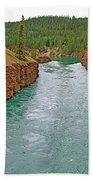 Miles Canyon In Whitehorse-yt Bath Towel