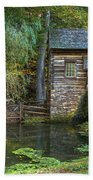 Mill Pond In Woods Hand Towel