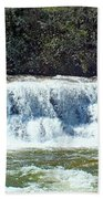 Mill Shoals Waterfall During Flood Stage Bath Towel