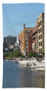 Milwaukee River Architecture 2 Bath Towel