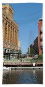 Milwaukee River Architecture 5 Bath Towel